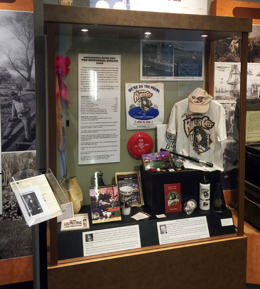 River Cats' history exhibit at the West Sacramento Community Center.